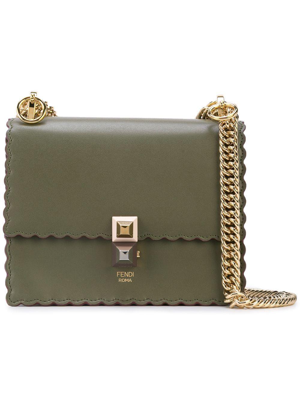 25b015bba9b Fendi mini shoulder bag - Green in 2019 | Products | Bags, Shoulder ...