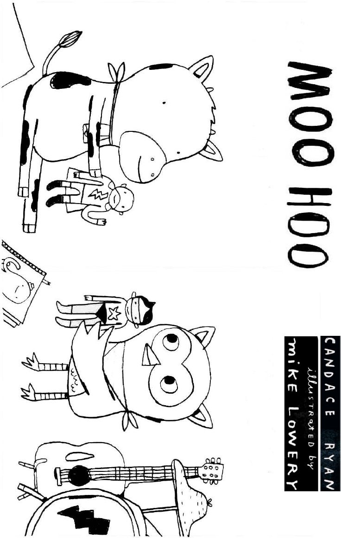 candace ryan's moo hoo coloring sheet 2  coloring sheets