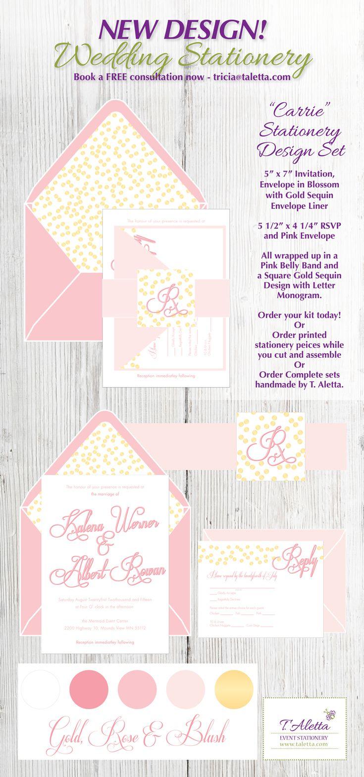 carrie a7 wedding invitation kit t aletta wedding invitation