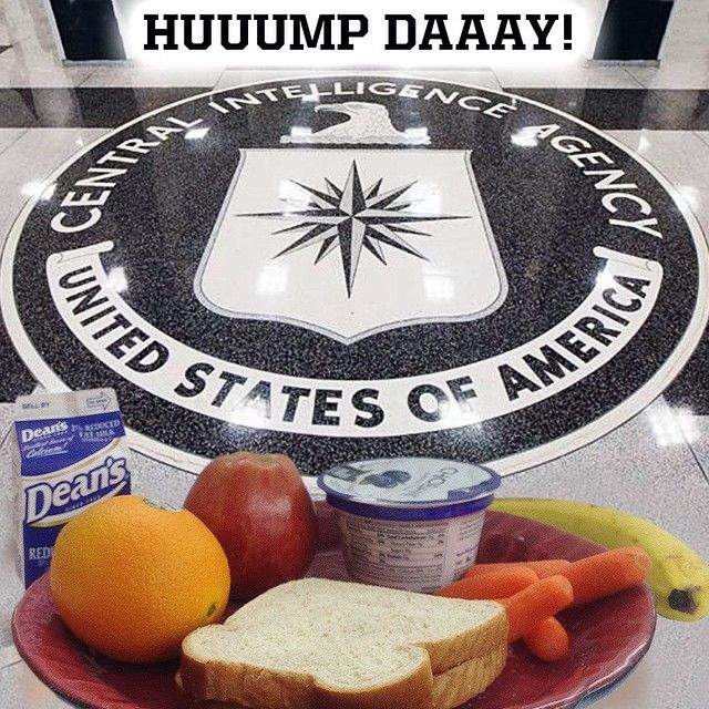 Whether it was mid water boarding session at a black site or while rectal feeding a hypothermic detainee with a broken foot while chained in a stress position that would have led to a war crimes conviction for any German or Japanese officer back in WWII, It's no secret what the redacted names at the CIA were eating every day for lunch – PB&J, of course.