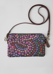 VIDA Leather Statement Clutch - Showgirl Hibiscus by VIDA 8VKsmfUq