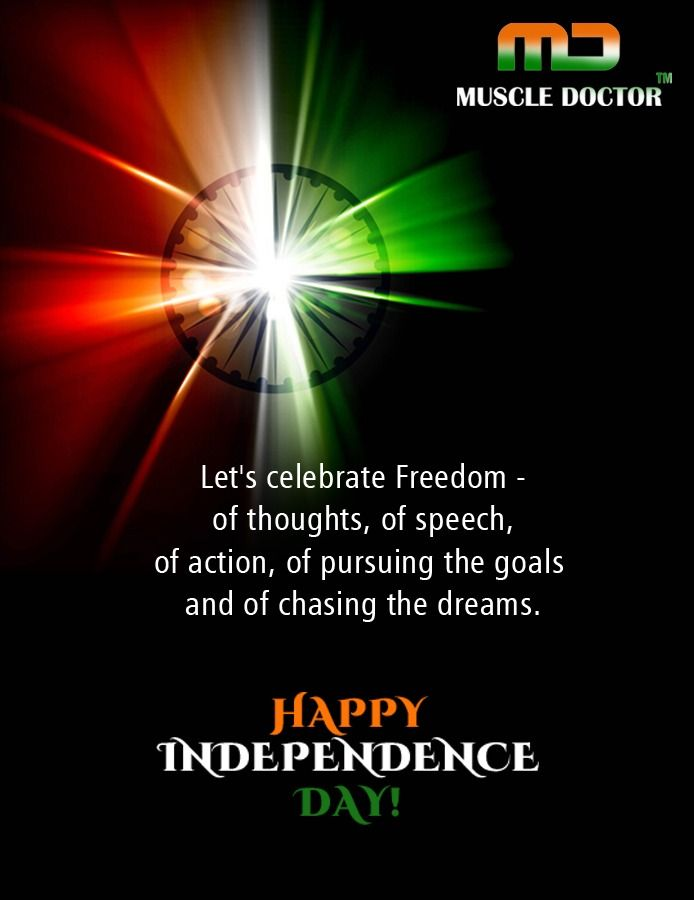 Wish you all a very Happy Independence Day !!  www.muscledoctor.in  #muscle #doctor #india #fit #independence #15thaugust #fitnessjustgym #gym #gymrat #fitnesstrainer #gymfit #gymfam #gymmemes #gymmotivation #workouts #muscletech #muscleup #workoutmotivation #health #muscles #workout