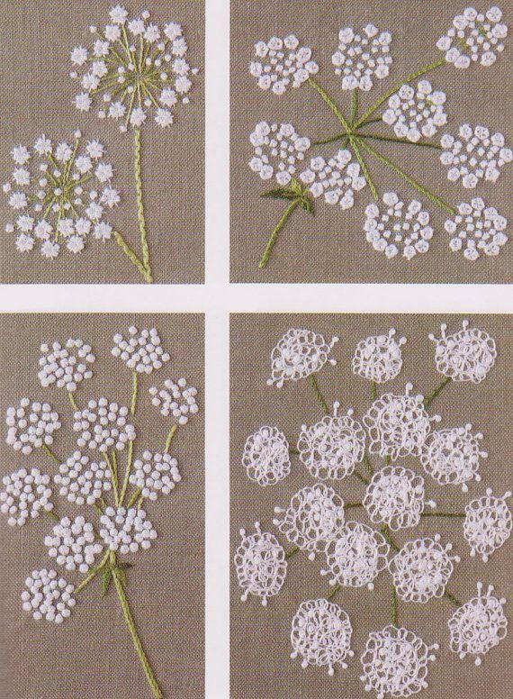 No.22 PDF patrón de cómo hacer flores Vintage de bordado de mano ...