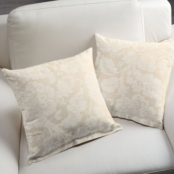 Jacquard Anastasia 1 - Polyester - Coton - Lin - beige