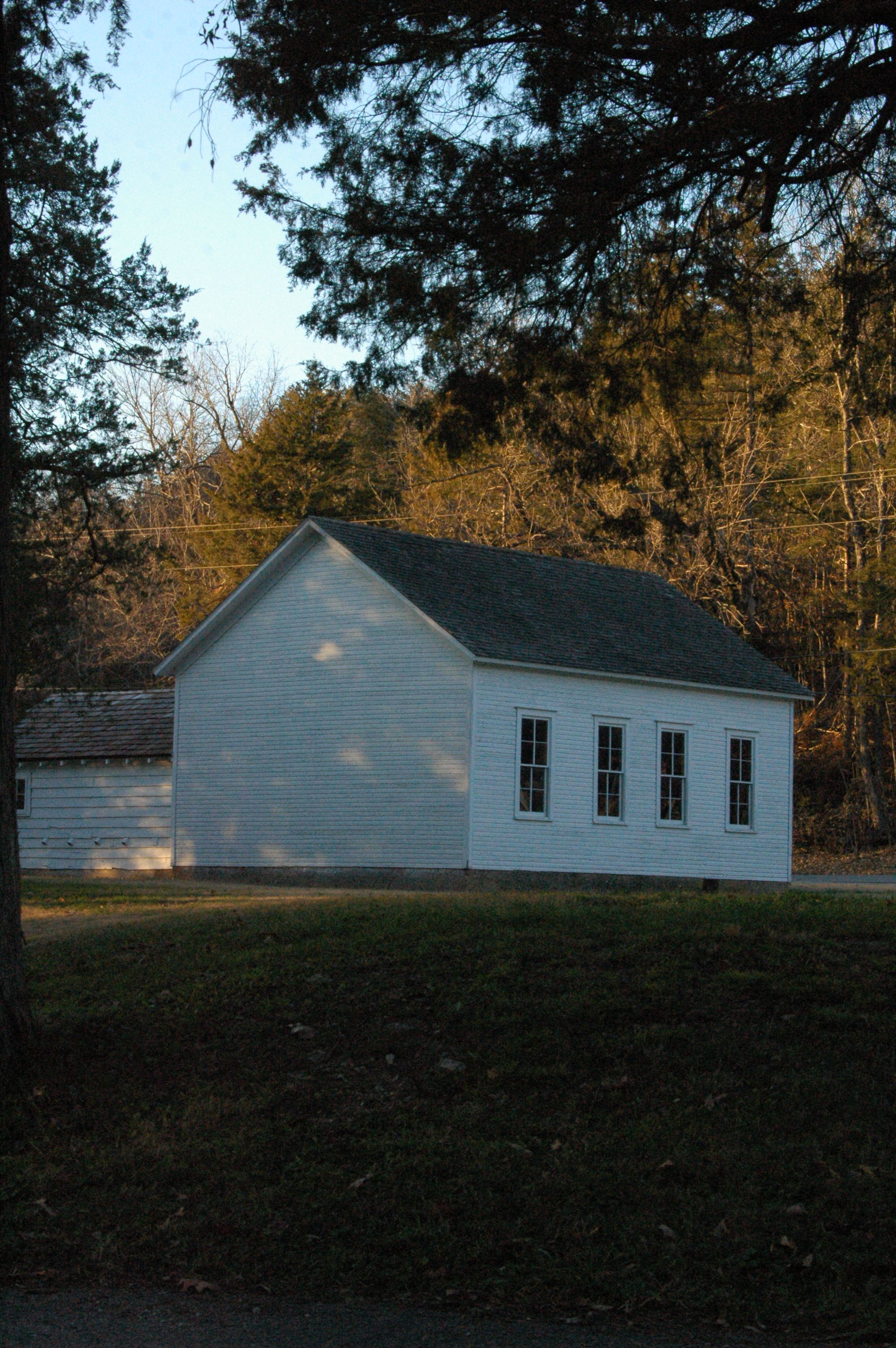 Old one room schoolhouse near Roaring River State Park