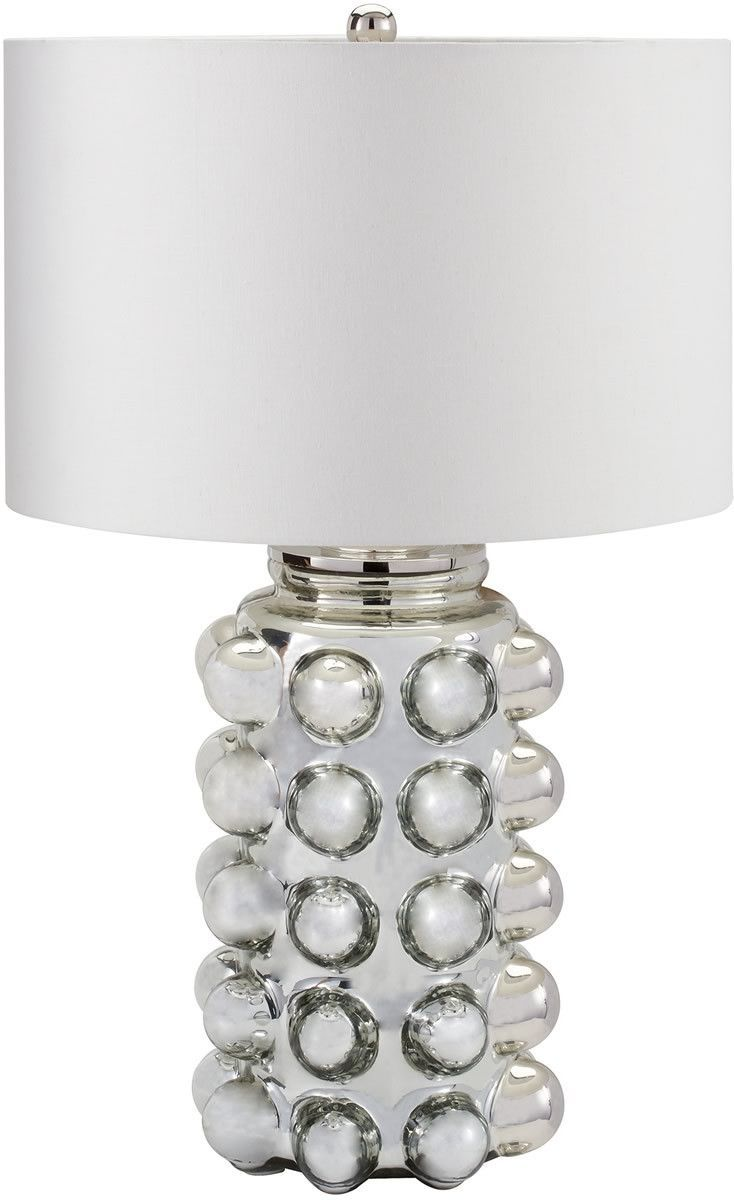 0 016353 1 Light 3 Way Table Lamp Silver Mercury Table Lamp