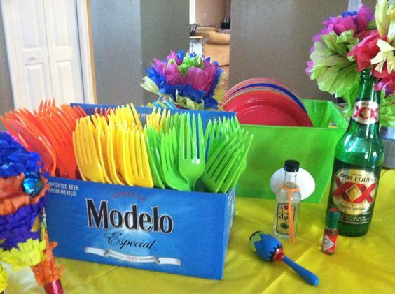 Rainbow Centerpiece Diy Cinco De Mayo Party Ideas For S Easy Fiesta Mexican
