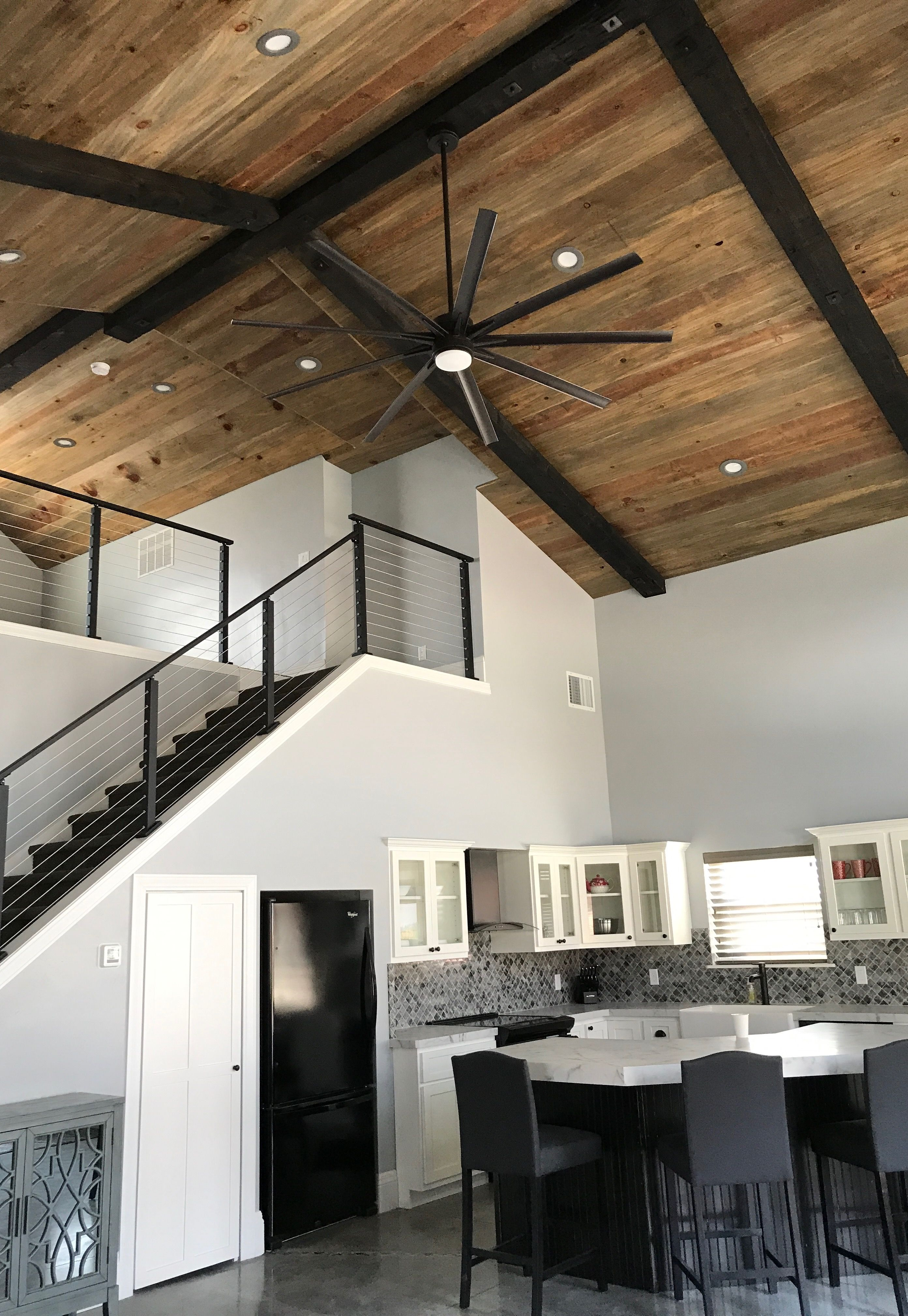 Check out this great interior using our pine shiplap