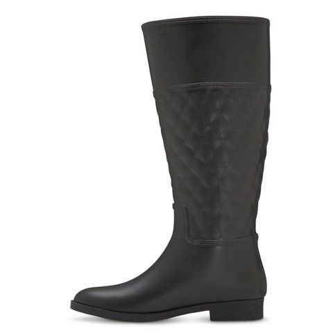 Women's Barbara Quilted Rain Boots - Black