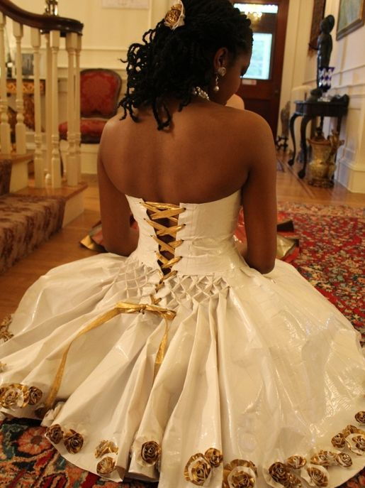 Duct Tape Wedding Dress  Found on duckbrandcom  costume