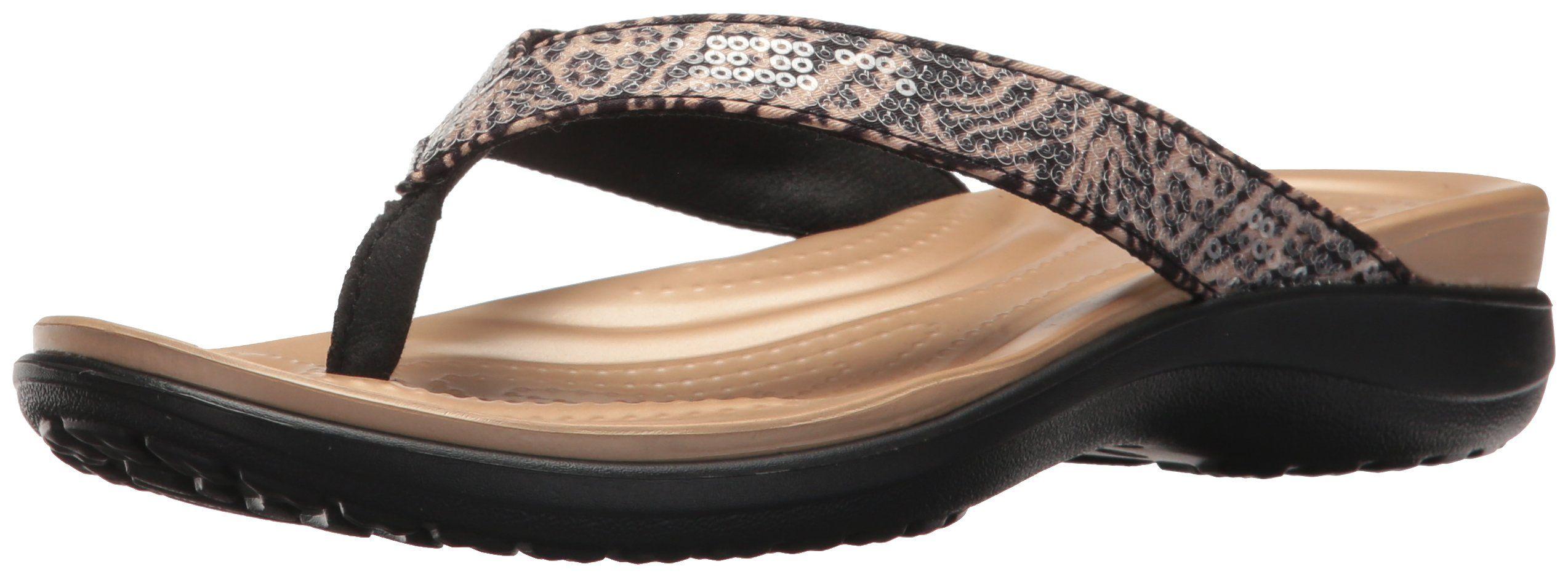 47ea44412 Crocs Women s Capri V Graphic Sequin W Flip-Flop
