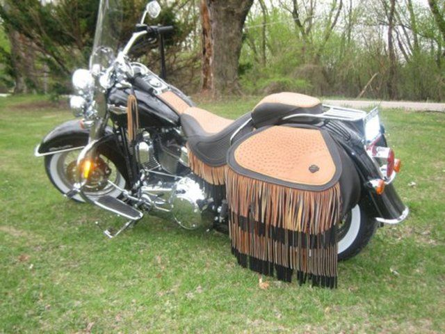 Custom Motorcycle Leather Harley Davidson Softail Deluxe Harley