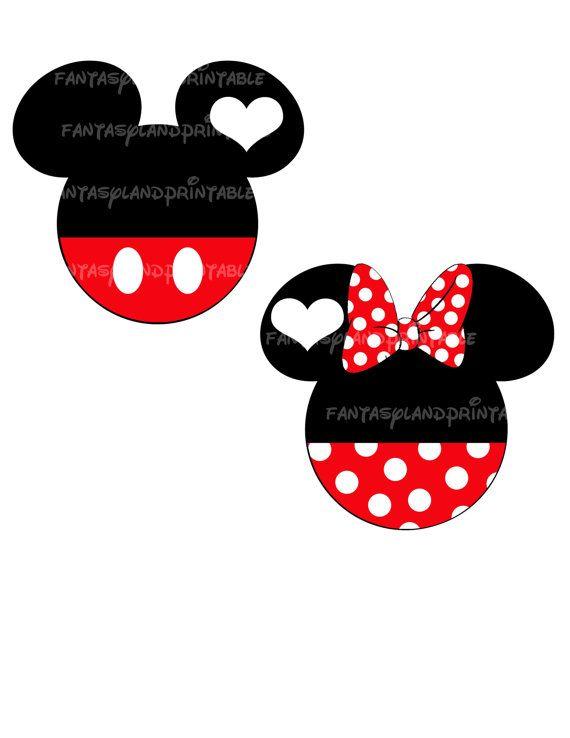 Mickey and Minnie Mouse DIY you print Printable Iron Transfer Disney ...