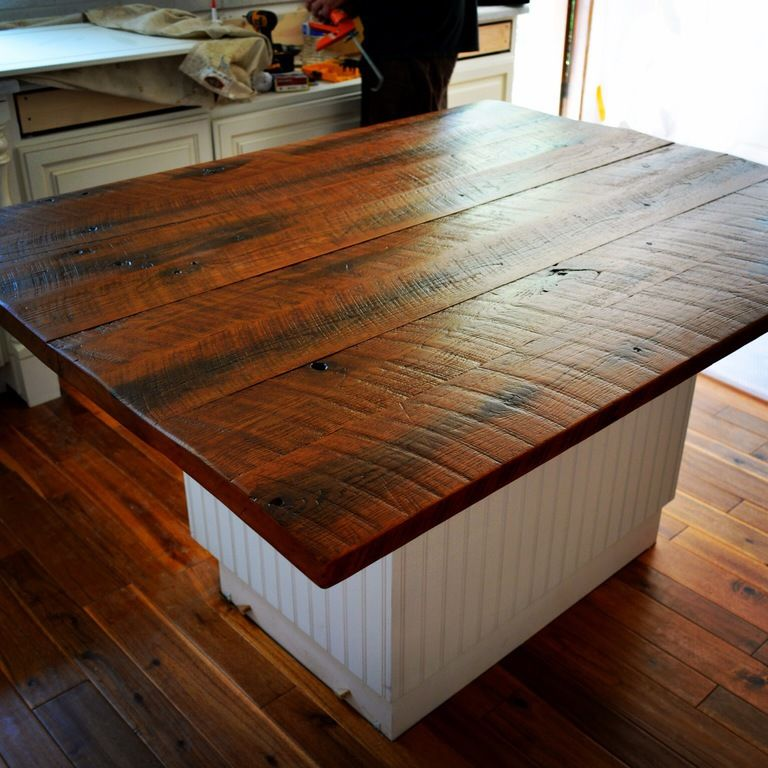Reclaimed Wood Countertops beautiful wood kitchen countertops for rustic kitchen | loegz