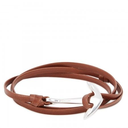 Miansai Leather anchor wrap bracelet