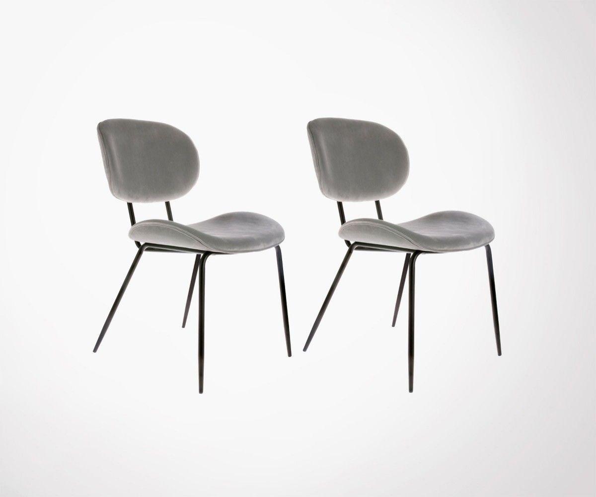 Chaise Velours Annees 80 Hk Living 5 Couleurs Top Design