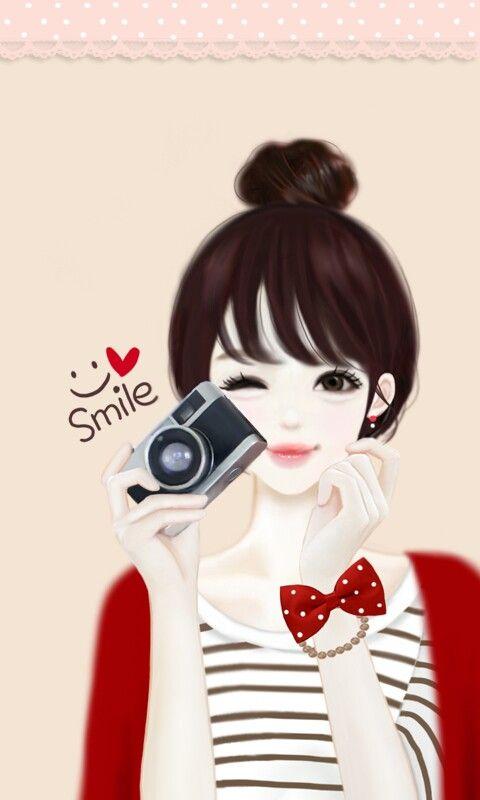 Ilustraciones Illustrations Girly Drawings Lovely Girl Image Anime Art Girl