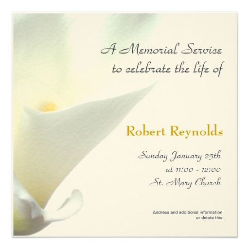 Service Announcement - invitation for funeral ceremony