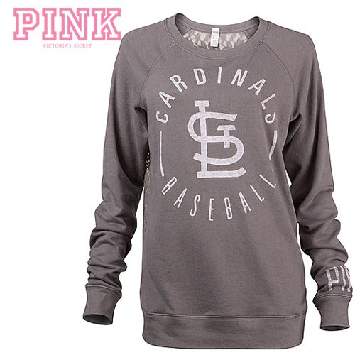 065d14c6103f5 St. Louis Cardinals Victoria's Secret PINK® Lace-back Boyfriend Crew ...