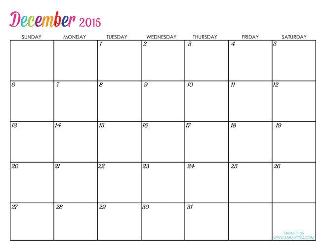Custom Editable Free Printable  Calendars  Sarah Titus
