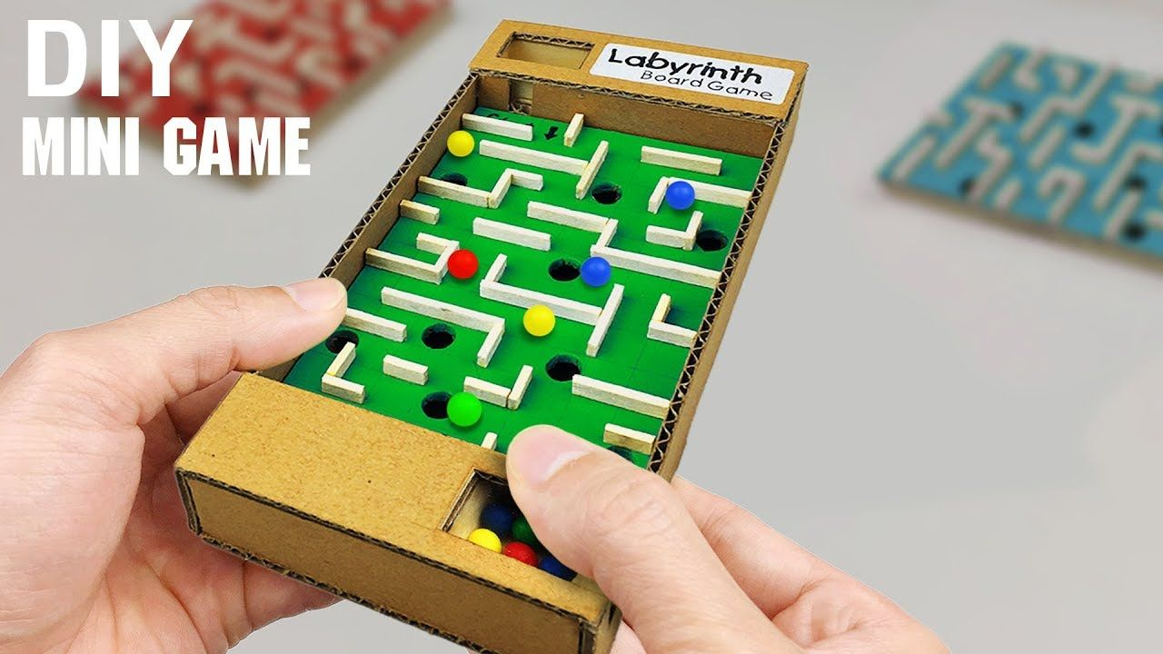 DIY Mini Board Game Marble Labyrinth out of Cardboard
