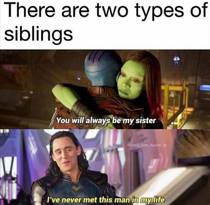 Loki Gamora Gotg Guardians Of The Galaxy Avengers Superheroes Marvel Mcu Comics Movies Siblings Brothers Family Si In 2020 Marvel Jokes Funny Marvel Memes Marvel Funny