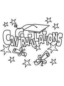 printable coloring graduation card Check more at http