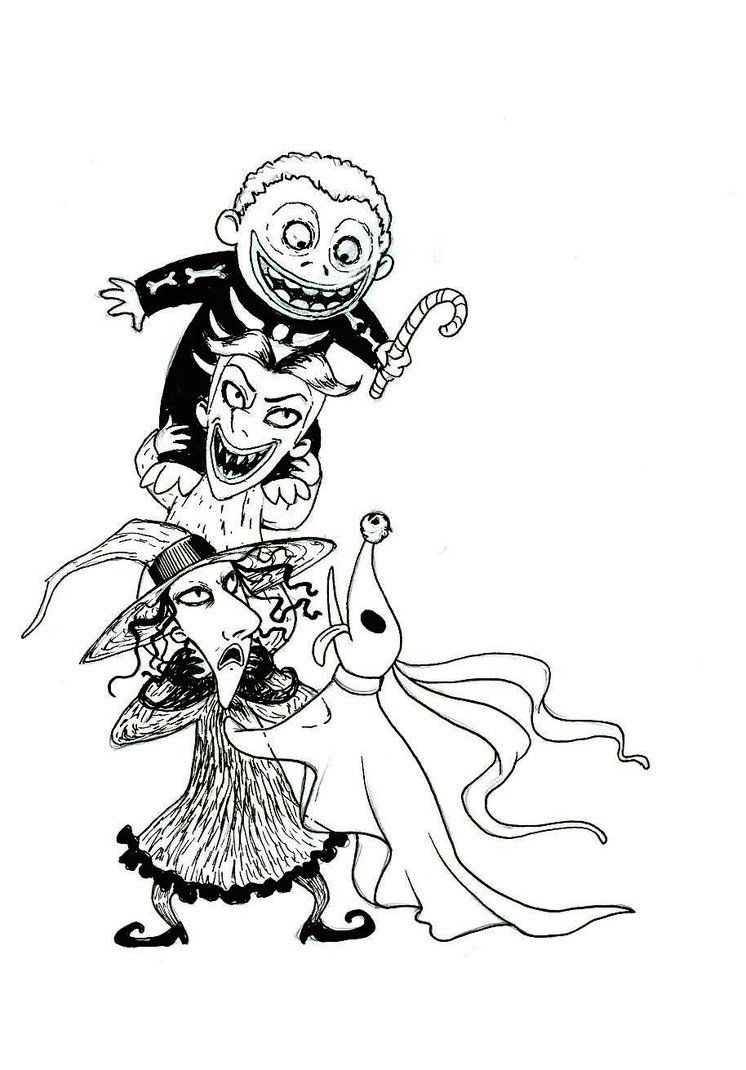 download nightmare before christmas coloring pages - Nightmare Before Christmas Coloring Pages