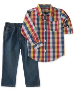 e2c8324e1 Kids Headquarters 2-Pc. Plaid Shirt   Jeans Set