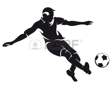 Set Of Detail Soccer Silhouettes Fully Editable Illustration Soccer Silhouette Soccer Players Football Soccer