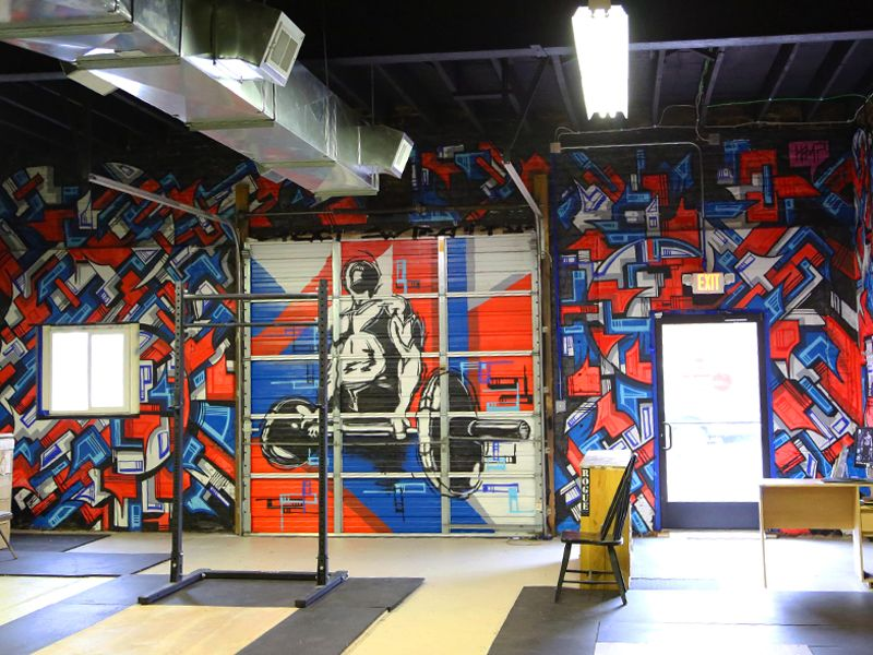 Pin by Stephanie Schulke on Gym Murals Mural, Painting