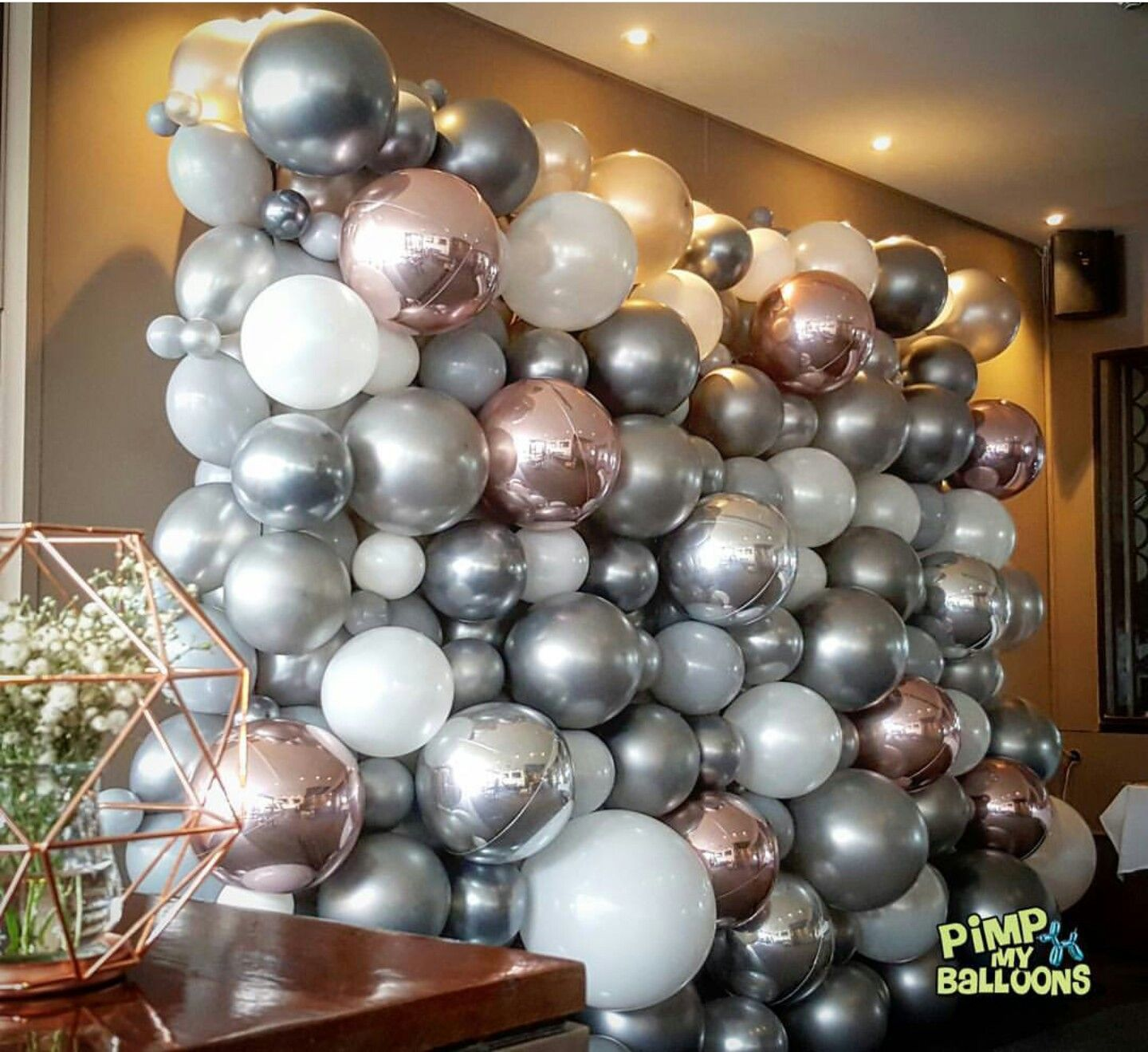 Ballon Wall For Photos During Baby Shower Www Balloonsdc Com Balloons Balloon Decorations Balloon Wall