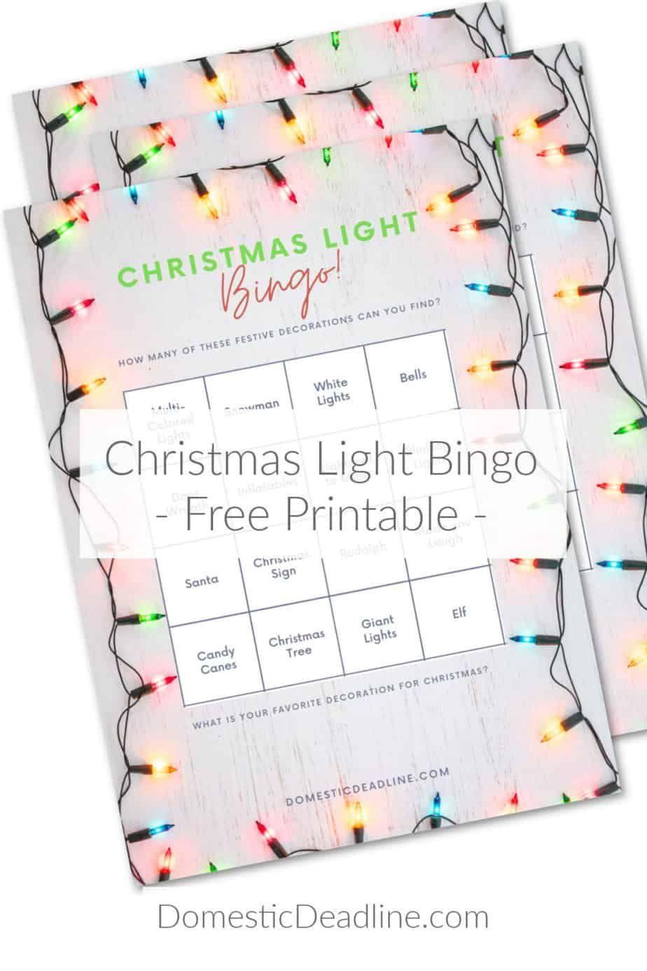 Christmas light game