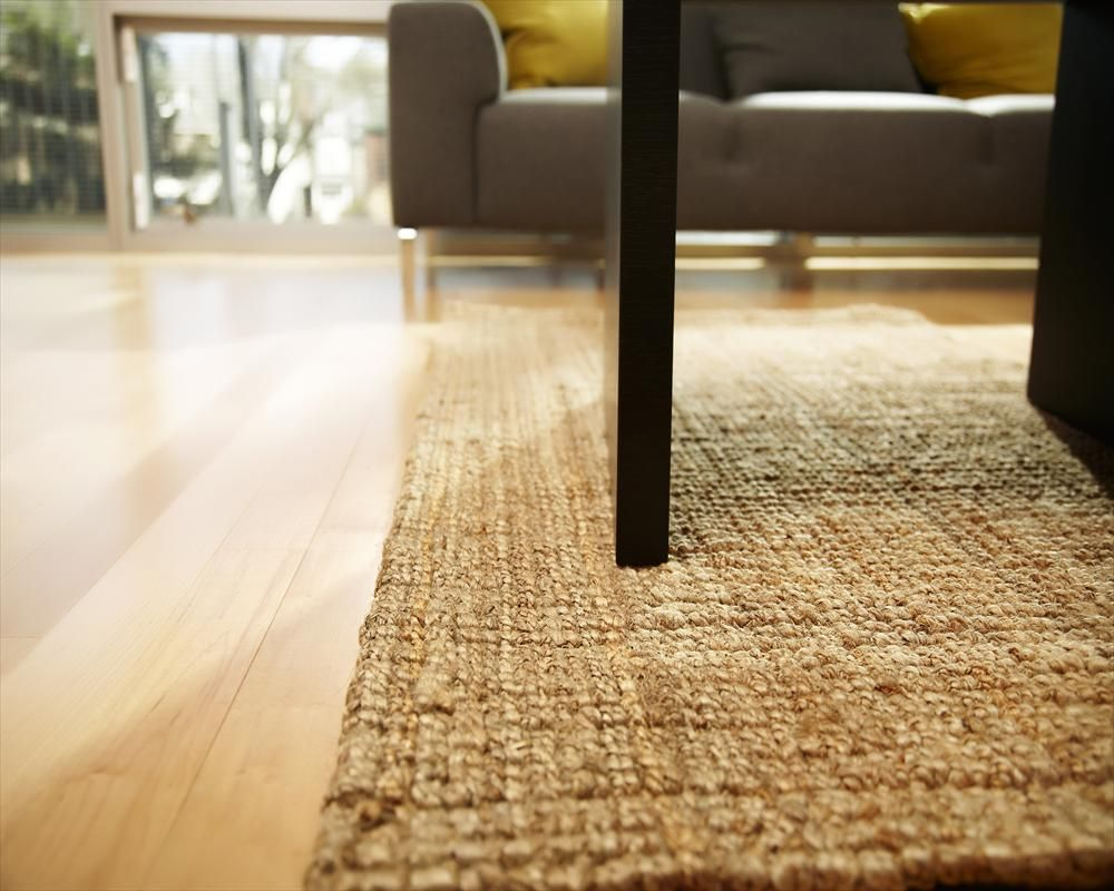 BuildDirect – Area Rugs - Jute – Natural Boucle Weave Jute Rug - Living Room View $115