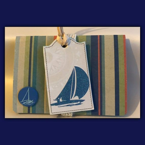 Photo of Sailing Nautical Gift Card Holder / Message Envelope | Announcement | in…