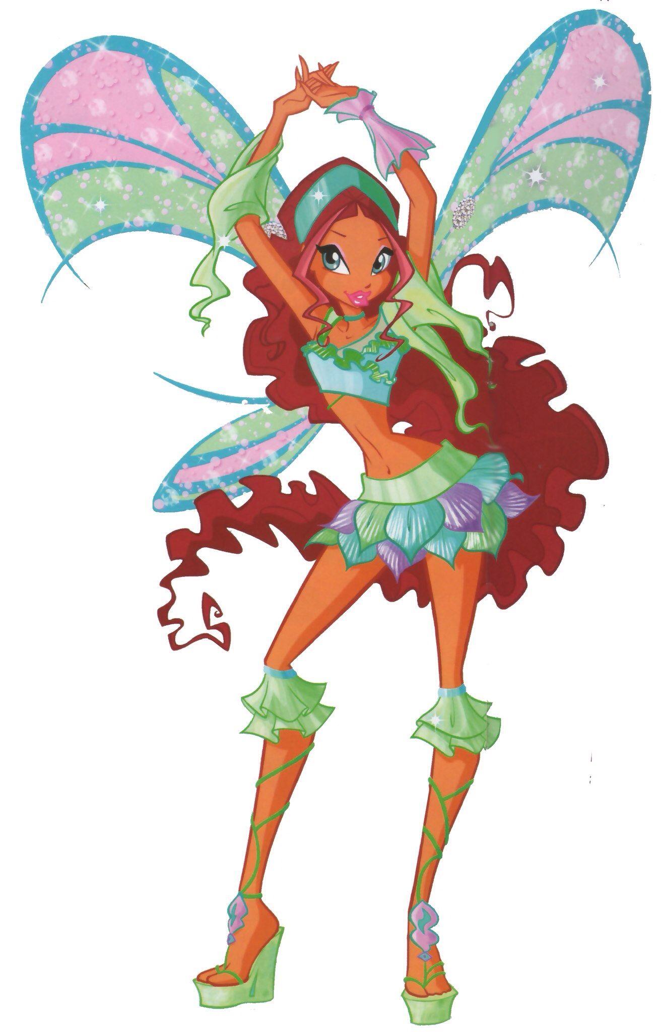 Fee van de golven Layla verdient Shopix in Seizoen 4 Aflevering 19 net als de andere Winx, deze verbindt ze met de natuur.