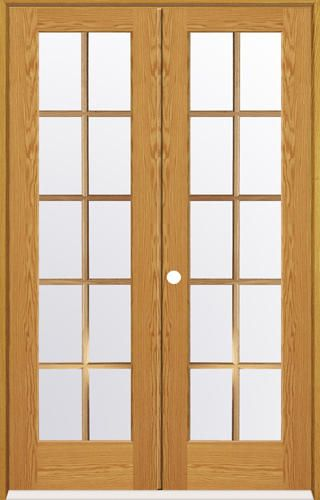 Mastercraft 48 X 80 Oak 10 Woodlite Prehung Interior Double Door Right Inswing 476