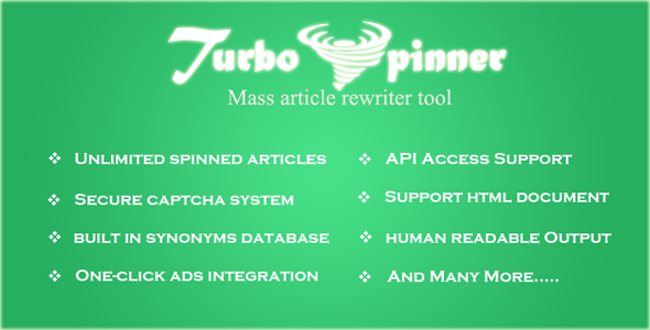 Turbo Spinner: Article Rewriter | Seo tools, Admin