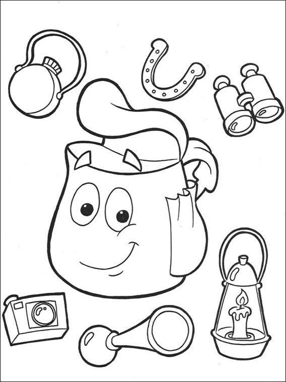 Dora the Explorer Coloring Pages 99   coloring   Pinterest   Online ...