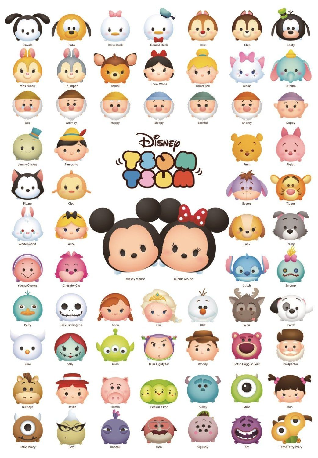 Top 14 Christmas Gifts For The Tsum Tsum Collector Disney Personagens Disney Princesas Disney