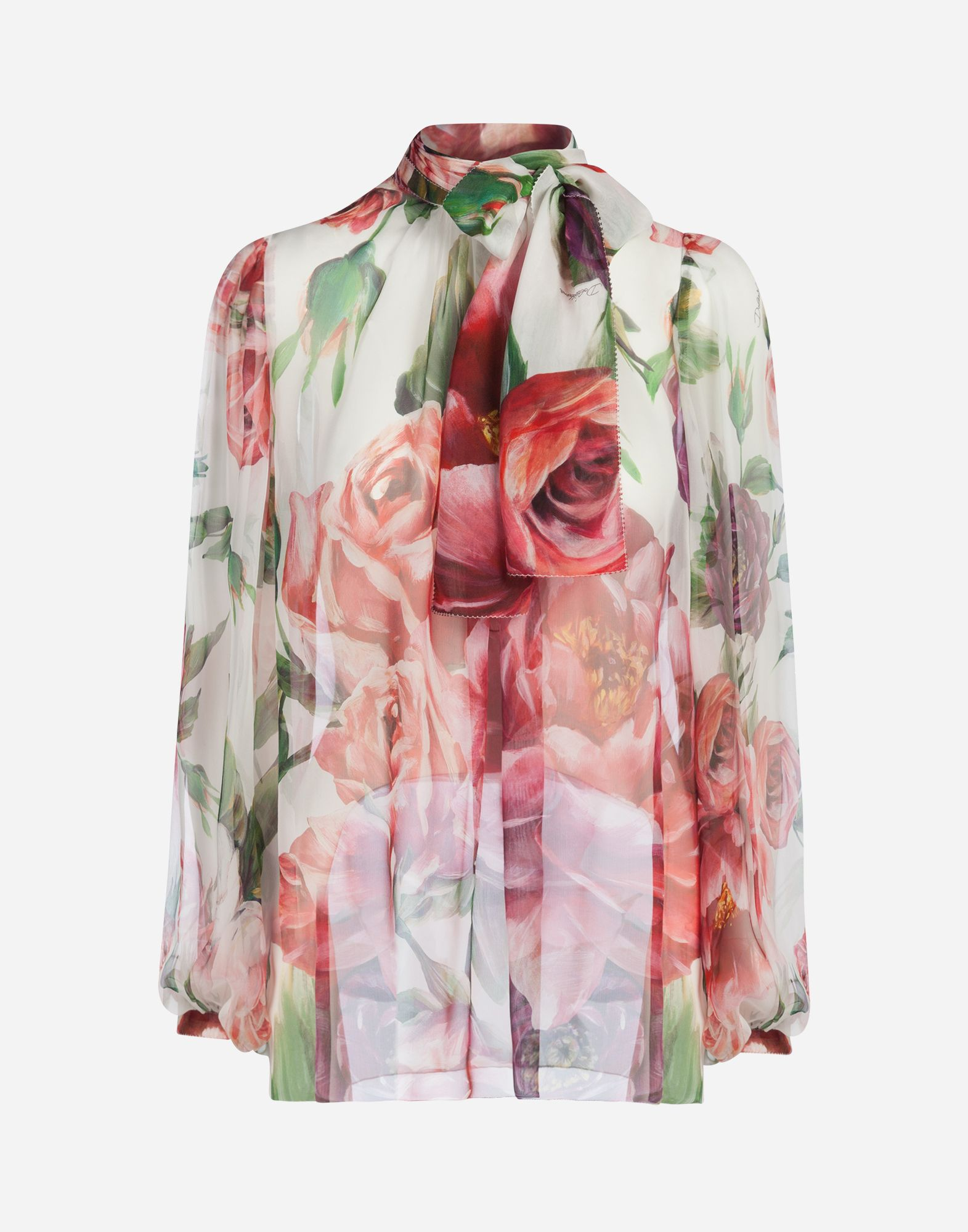 83b5878727ba0e Dolce & Gabbana - Peony-print silk blouse ($1,375) Peony Print, Floral