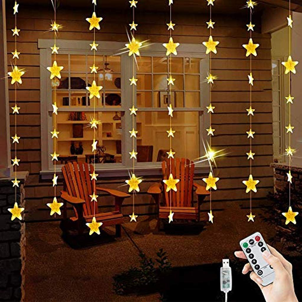 Catena Luminosa Per Foto bloomwin catena luminosa stelle luce tenda 2m x 1.6m 144 led