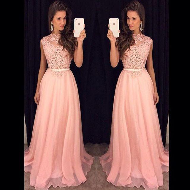 46285f693b0b Envío rápido Elegante Mujer de Encaje Vestido de Noche Largo ...