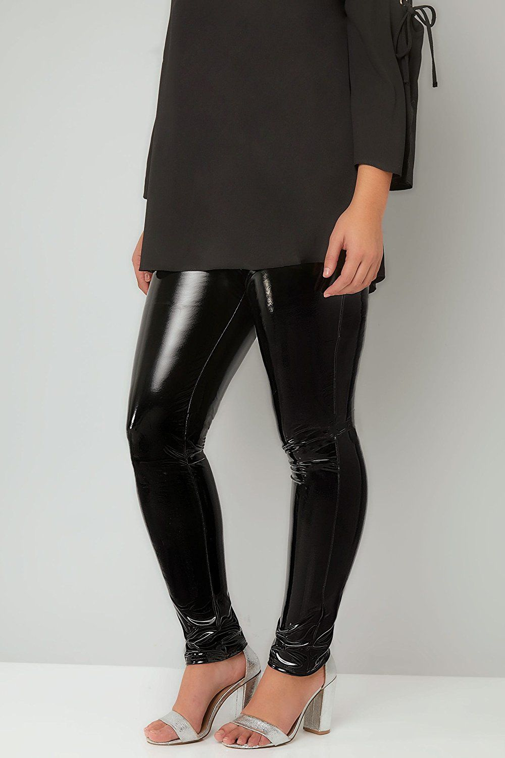 14aeda6776ab9 Plus Size Womens Limited Collection Vinyl Leggings