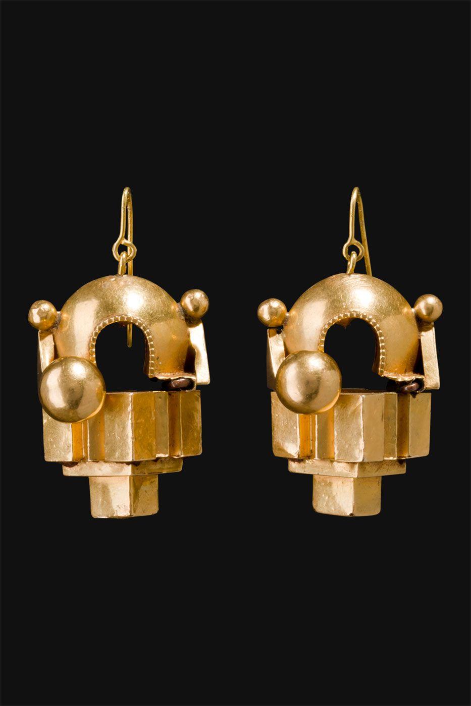 thandatti earrings tamil nadu, south india first half 1900  herren schmuck ohrringe c 82_87 #1
