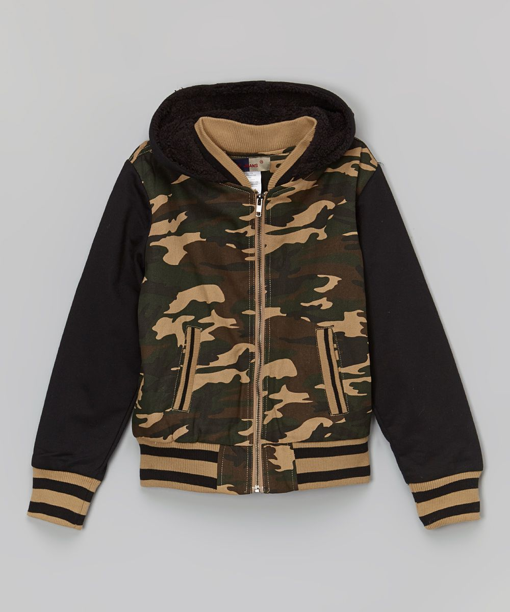 Khaki u green camo zipup hoodie boys future son tyler ray and
