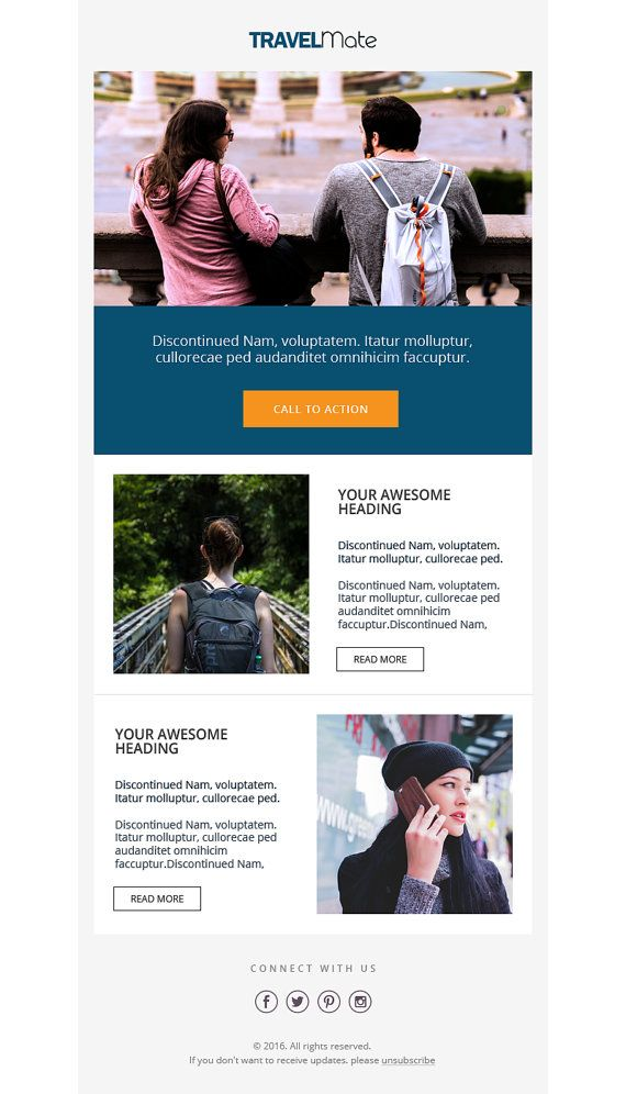 Mailchimp Template Responsive HTML Email Mailchimp Email - Mailchimp template tags