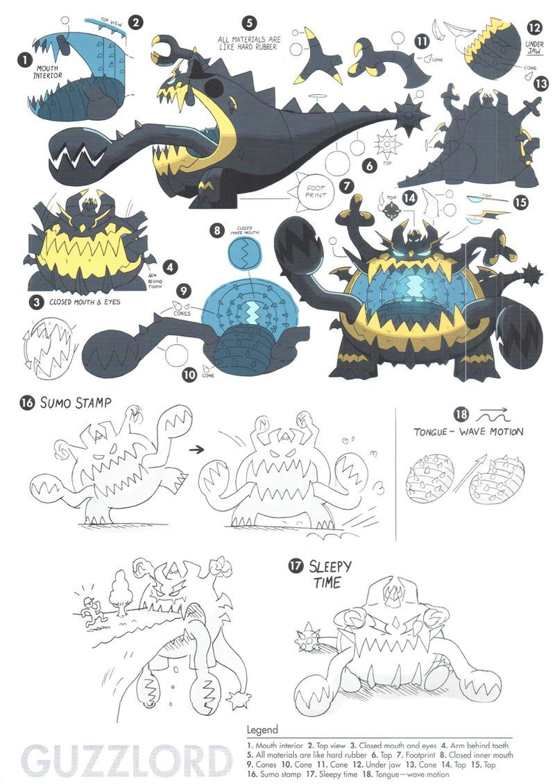 Ultra Beasts Concept Art For Pokemon Sun And Moon Pokemon Game Character Design Concept Art