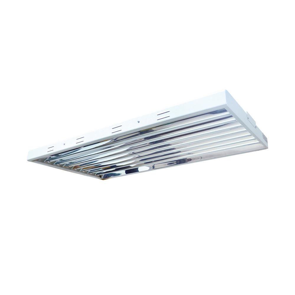 4 Ft 8 Bulb 432 Watt T5 High Output Fluorescent Grow Light Fixture Silver Indoor Grow Lights