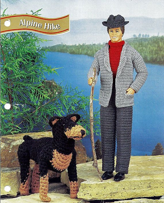 Alpine Hike With Dog Crochet Pattern For Ken Annies
